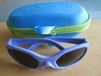 Orao purple frame girls sunglasses. Shifty. With case.