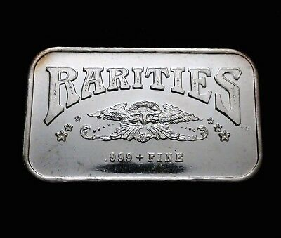Vintage Art Bar Rarities Mint 1 troy OZ .999 Fine Silver Nice Condition