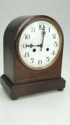 Mahogany case mantle clock for Spares Or Repairs
