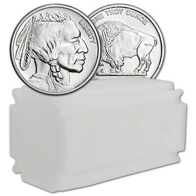 1 oz Silver Round Buffalo Design .9999 Fine 1 Roll Tube of 20