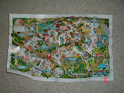 Park Map: Six Flags Great America 1990   **free shipping**