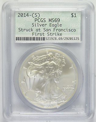 2014-(S) Silver Eagle PCGS MS-69 Struck at San Francisco First Strike (5/5)