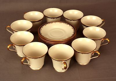 Set of 10 Place Settings Lenox Eclipse China Plates Cups and Saucers 50 Pieces
