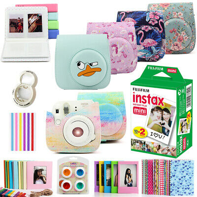 Fujifilm Instax Mini White Film 20 Sheets Cover /Album/Filter/Sticker/DIY Kits