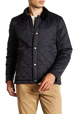 Barbour Holme Navy Blue Mens Quilted Water Resistant Jacket Size XL Extra Large.