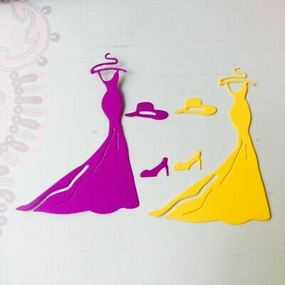 Dress Metal Cutting Dies Stencil DIY Scrapbook Album Embossing Paper Card Gift