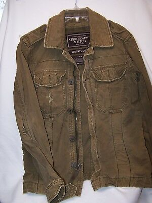 4906bb80443 Men s Green Abercrombie   Fitch Sentinel Military Field Jacket size Small