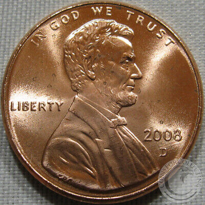 2008-D Unc Lincoln Memorial Penny Nice Coin **Make An Offer**