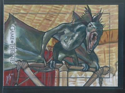 2015 Rittenhouse Game Of Thrones Season 6 Dragon Sketch Card Lee Lightfoot