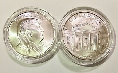 🇺🇸45th President _ Donald Trump _ 1 oz .999 silver round