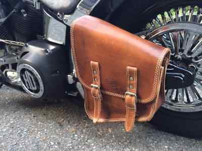 Borsa in cuoio 4 mm. NATURALE ANTICATO Harley SOFTAIL Mod. CHOPPERS 003-B