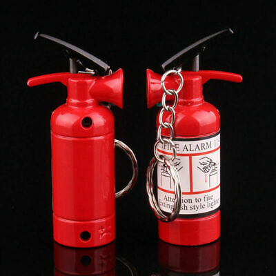 Refillable Butane Gas Keychain Keyring Cigarette Flame Lighter Simple Cute