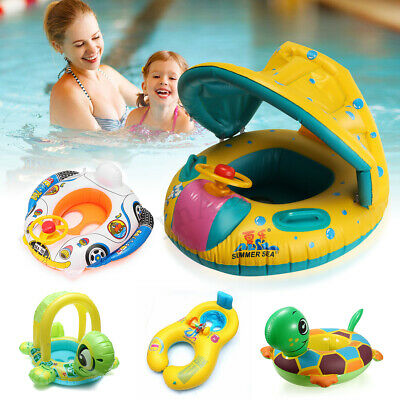 Kids Baby Inflatable Swim Swimming Ring Seat Soft Floating Boat Pool Various Toy