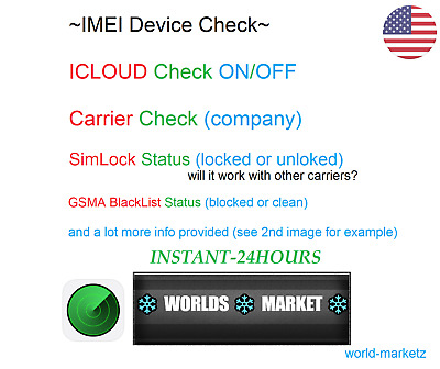 IPHONE IMEI INFO Checker Simlock Find My Phone Carrier