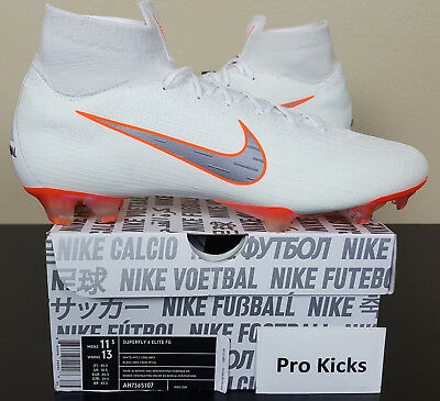 3ce459b41 Nike Mercurial Superfly 6 Elite Fg Soccer Cleats White New Ah7365-107  Size  11.5