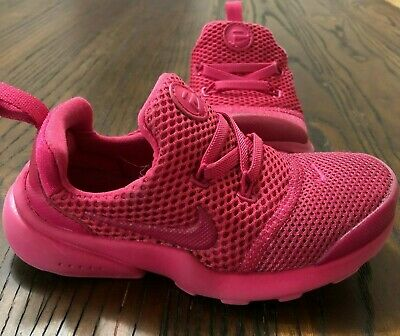 7259c05ab99226 Nike Presto Fly Fuschia PINK Girls  Toddler 9C Slip-on Sneakers Trainers EUC
