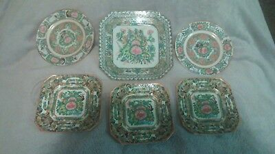 Antique Late 1800's and early 1900's Rose Medallion Plates *Exquisite*
