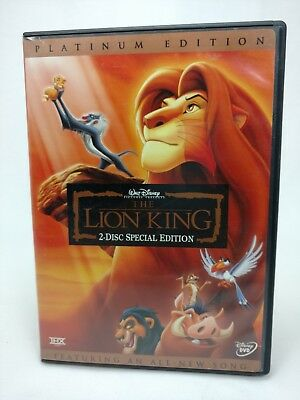 The Lion King - DVD, 2003, 2-Disc Set, Platinum Edition