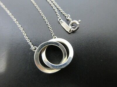 09e87b2a2 Auth Tiffany & Co. 1837 Double Circle Necklace 925 Sterling Silver Good  64619