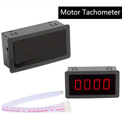 DC8-24V 4 Digital LED Motor Tachometer RPM Speed Meter Pulse Frequency Meter