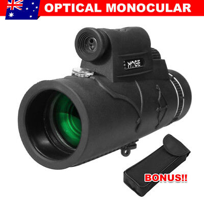 50x60 Handheld Monocular Telescope Travel Outdoor Camping Day Night Vision FLC
