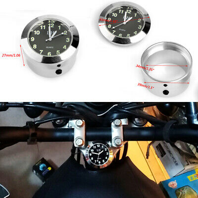 "1-1/5"" 30mm Handlebar Dial Clock Mount For Chopper Bobber Honda Yamaha Harley B"