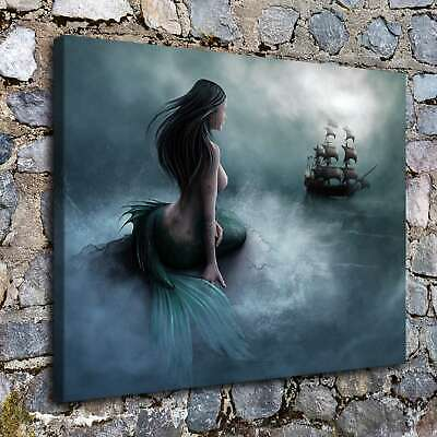 Wait and see Mermaids HD Canvas prints Painting Home Decor Room Wall art Picture