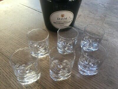Littala Glassware Clear  x 6 Shot Glasses - Excellent Condition