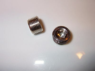 3/8 BSP Blank plug stop end, Two Gas manifold test port plugs, motor home boat.