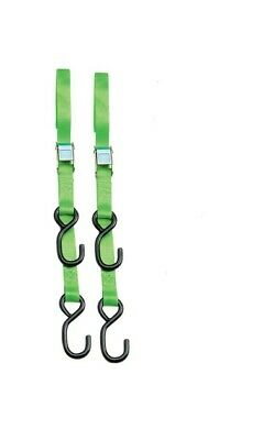 """Parts Unlimited 1"""" Heavy-Duty Cam Buckle Tie Downs Lime Green (TD600)"""