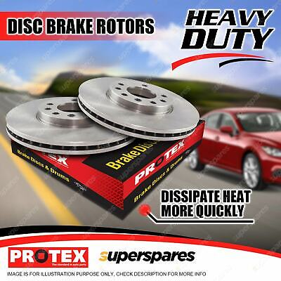 Pair Front Protex Vented Disc Brake Rotors For Bmw 320 325 328 330 E46 Z4 E85