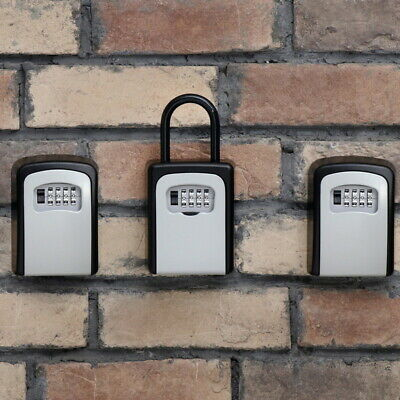 Wall Mounted 4-digit password outdoor key safe boxes alloy keys storage boxes