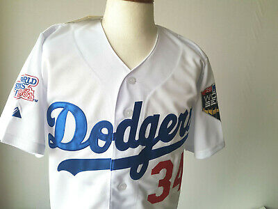 LOS ANGELES DODGERS  34 Fernando Valenzuela Majestic WS Patch sewn ... 644cdde71