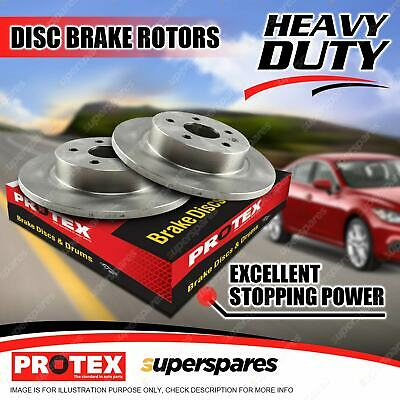 2 Rear Protex Solid Disc Brake Rotors For Land Rover Discovery II Range Rover II