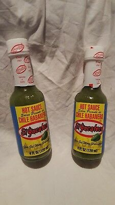 El Yucateco Green Salsa Picante de Chile Habanero Hot Sauce 4 oz U.S. Seller
