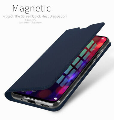 DD Skin Faux Leather Magnet Flip Case Kickstand Cover For Huawei Honor View 20