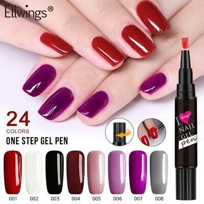 Gel Nail Polish Pen 24 Colors 3 in 1 Gel Varnish Manicure Pedicure Nails Pencil