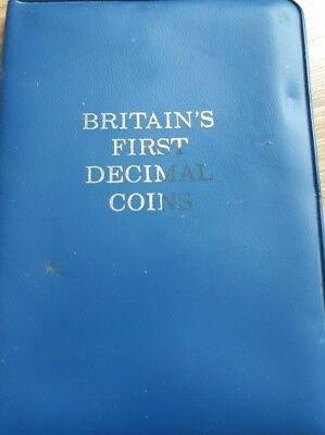 Britains First Decimal Coins Set Uncirculated  in Wallet