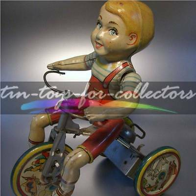 KIDDY CYCLIST - UNIQUE ART & Mfg Co. NEW YORK - UM 1930 - GUTER ZUSTAND