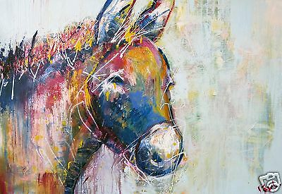 Donkey abstract  art painting canvas modern animal Australia