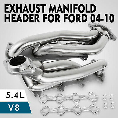 For Ford F150 2004-2010 5.4L V8 Exhaust Manifold Headers  Pickup crew