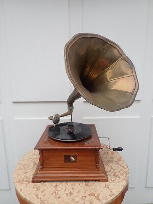 Voll funktionsfähiges HIS MASTER s VOICE TRICHTER GRAMMOPHON