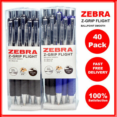 ZEBRA Z-GRIP FLIGHT Ballpoint Pen - 1.2mm Ultra-smooth - Pack of 1 to Pack of 40