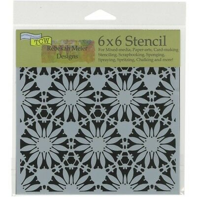 TCW - Stencil 6in. x 6in. -Tuscan Floral