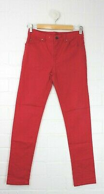 TARGET Red Straight Leg Skinny Leg Style Jeans Size 12 Like New