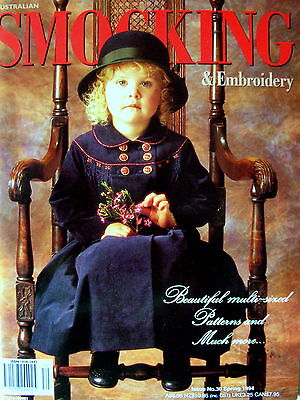 Australian SMOCKING & EMBROIDERY Issue 30:1994-Attached Uncut Patterns Like New