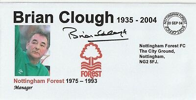 20 Sept 2004 Brian Clough In Memoriam As Nottingham For Manager Football Cover