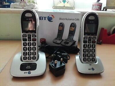 BT 4000 Cordless Big Button Phone With Nuisance Call Blocker (pack of 2) Boxed