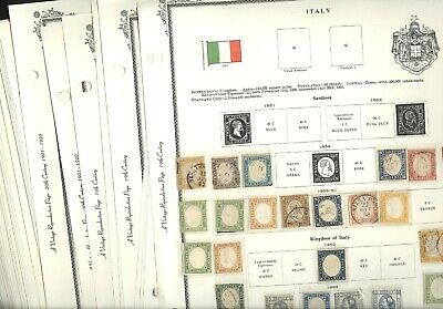 ITALY & OFFICES, Wonderful Stamp Collection hinged/mounted on Scott Vintage pags