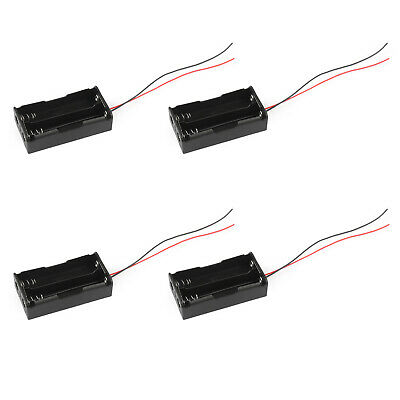 2 Cell 18650 Parallel Battery Holder Case For 3.7V Batteries With Leads AU5